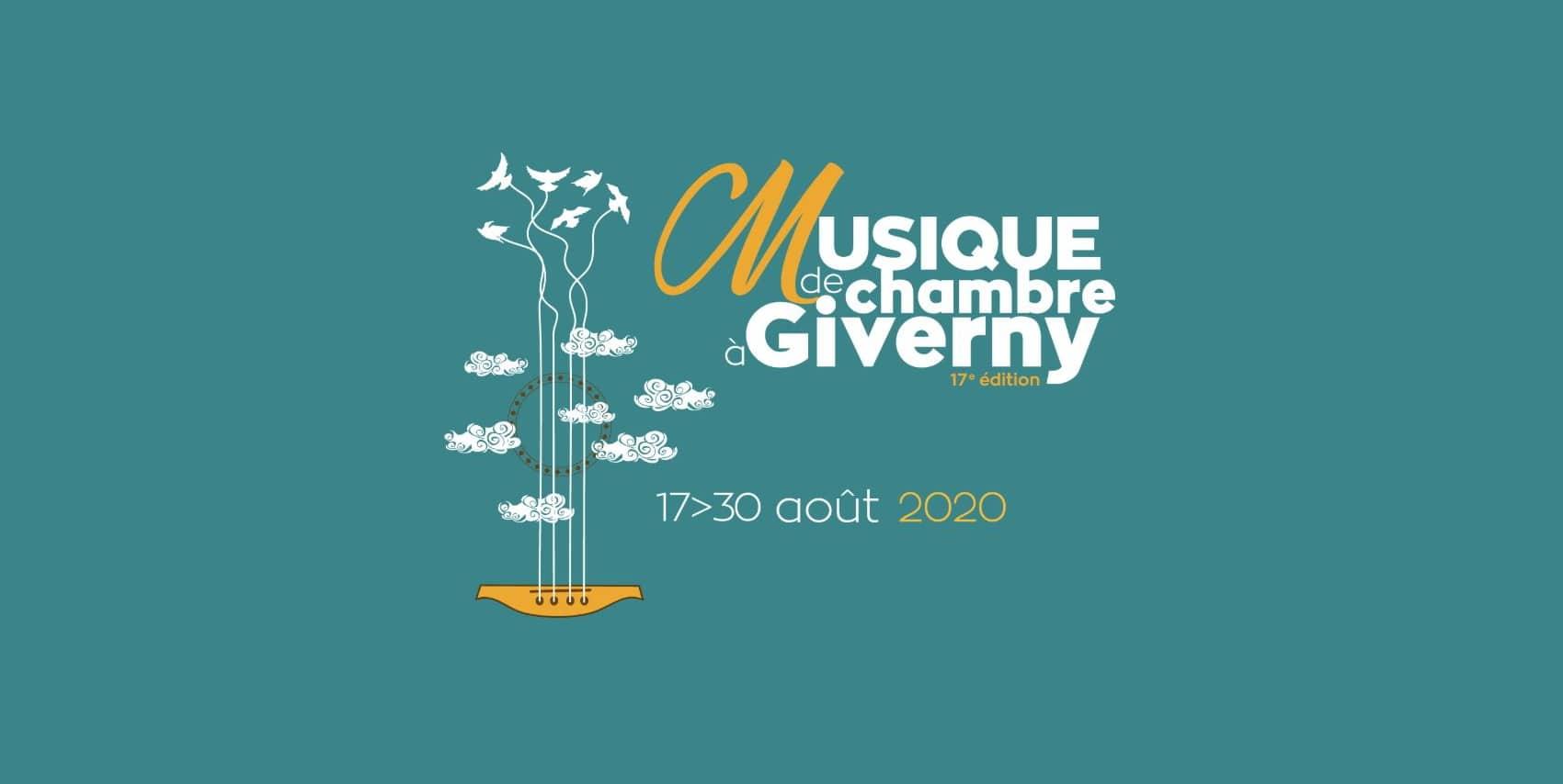 Affiche du Festival Musique de Chambre à Giverny - Edition 2020