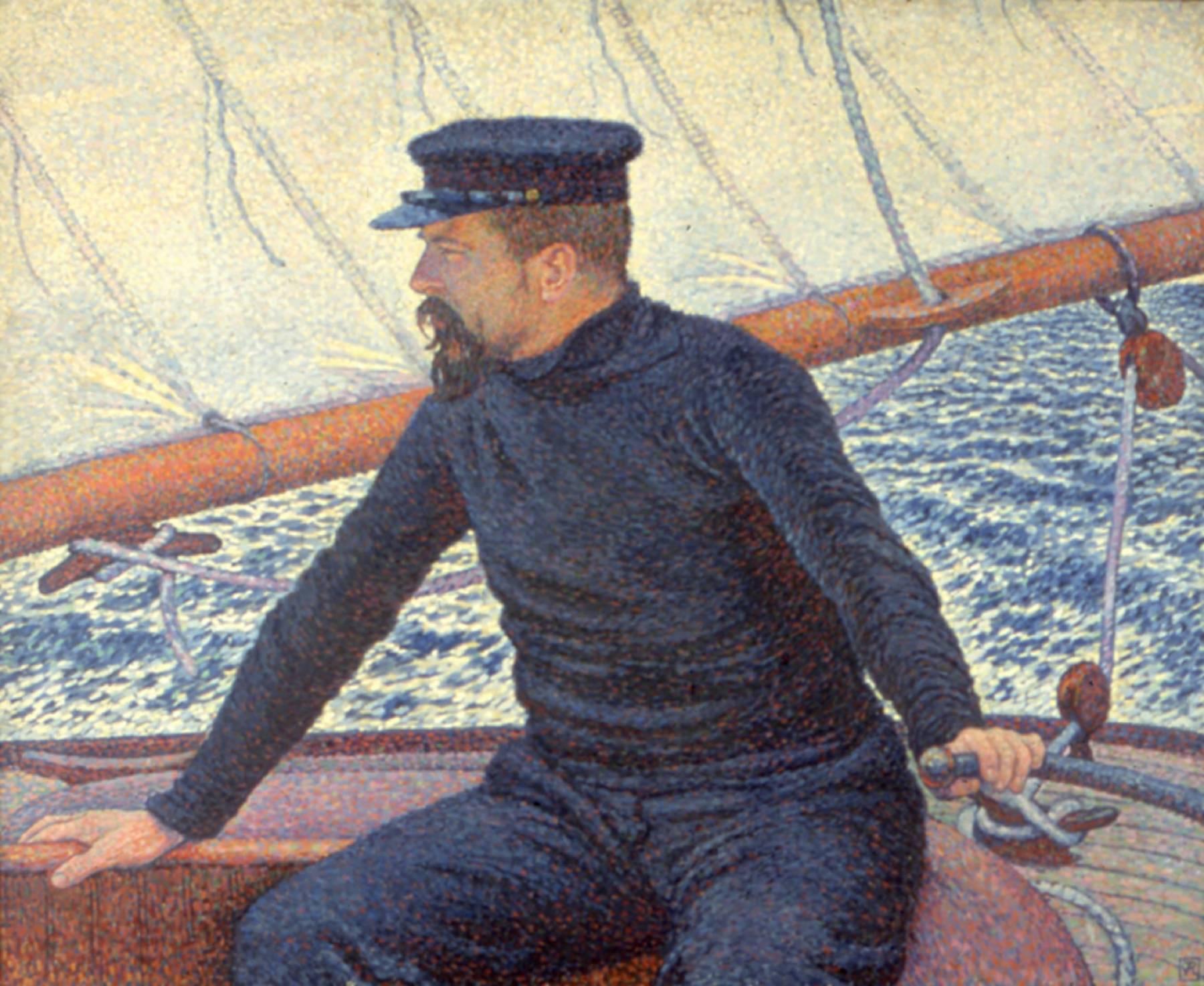 Théo Van Rysselberghe, Signac sur son bateau