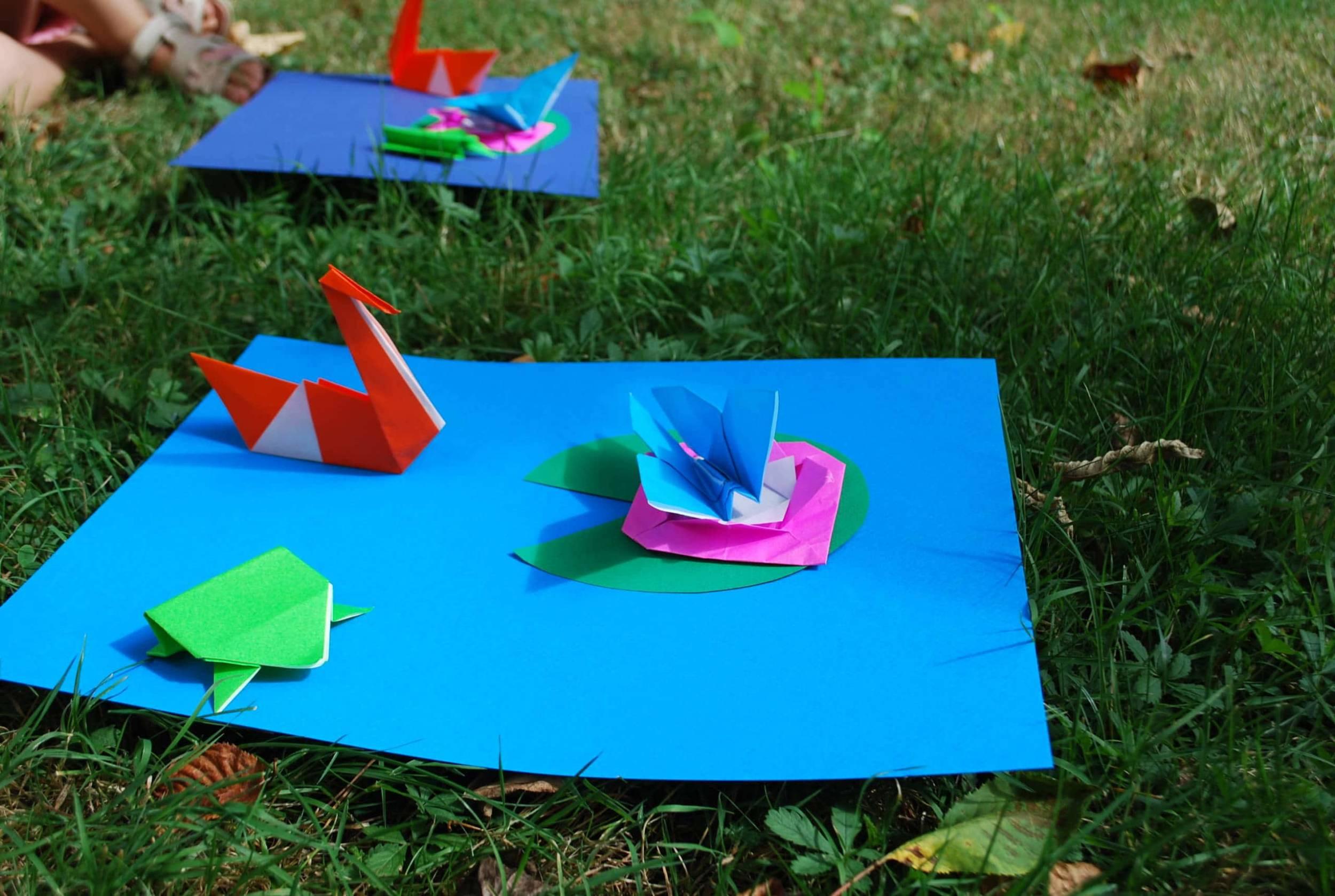 Atelier origami au musée des impressionnismes Giverny
