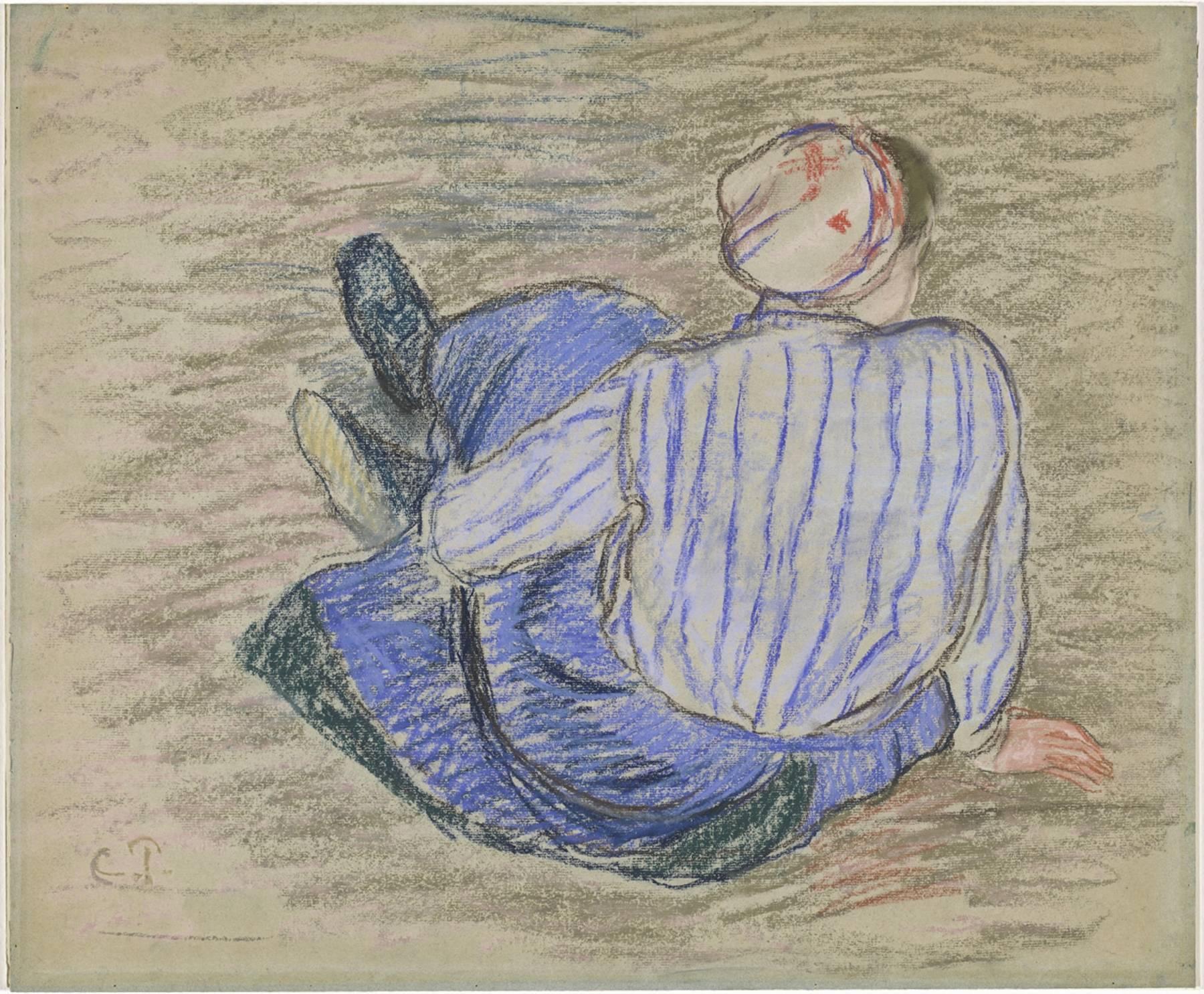Camille Pissarro, Paysanne assise par terre