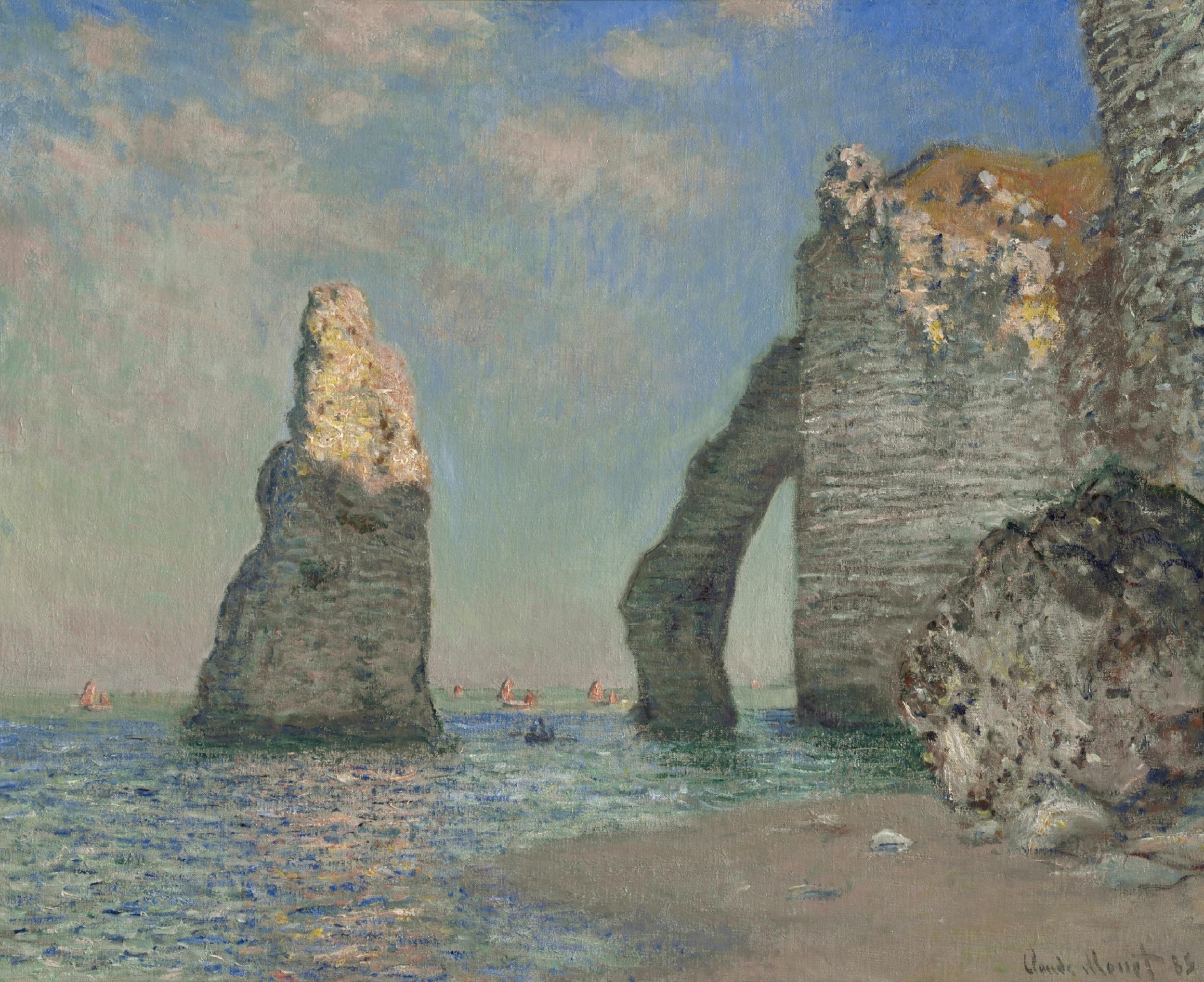 Claude Monet, L'Aiguille et la falaise d'Aval