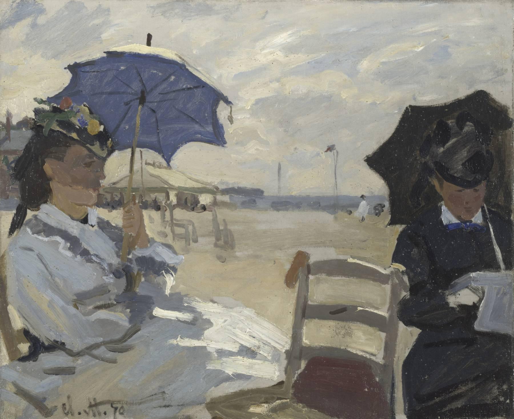Claude Monet, La Plage de Trouville