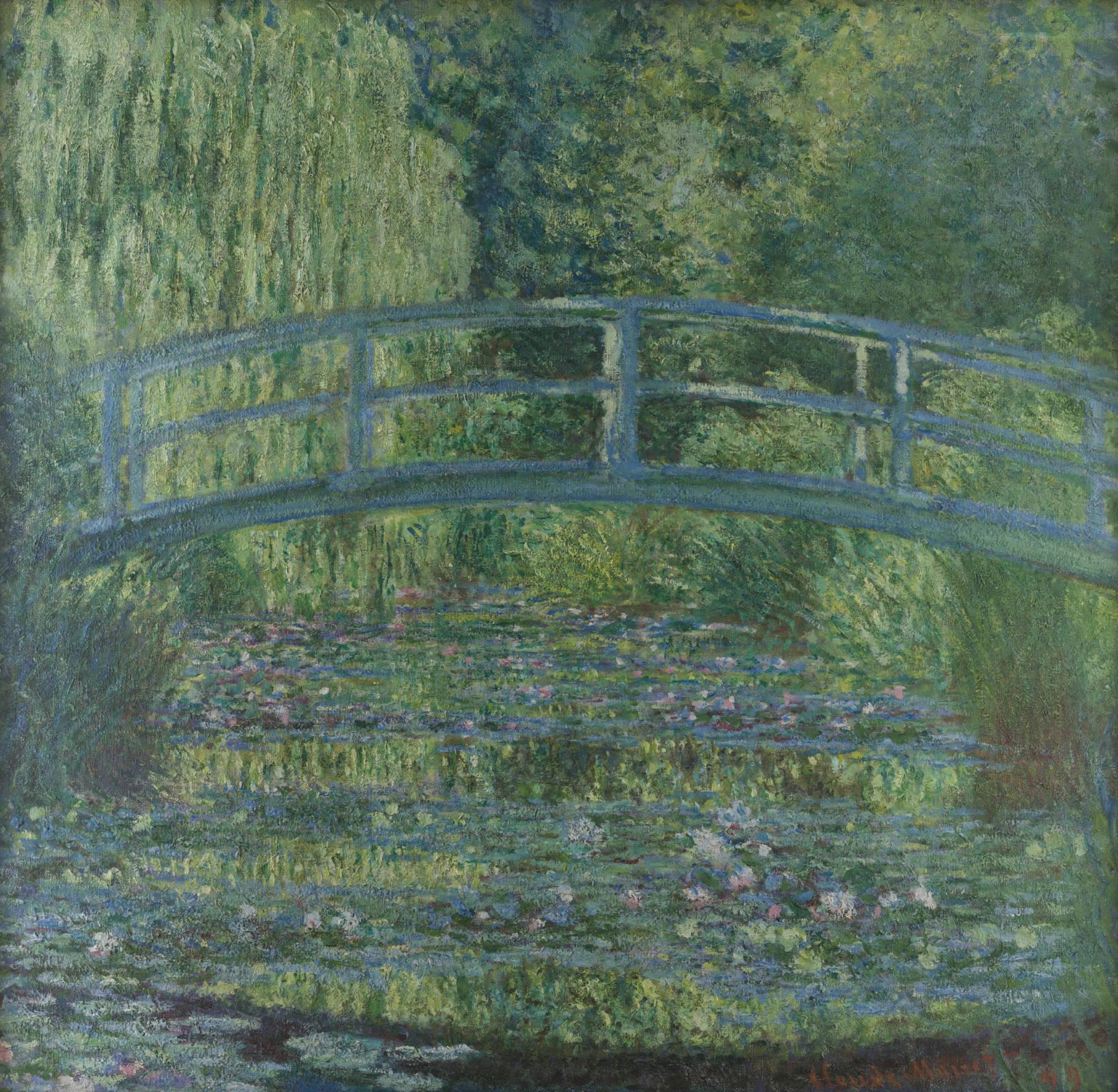 Claude Monet, Le Bassin aux nymphéas, harmonie verte