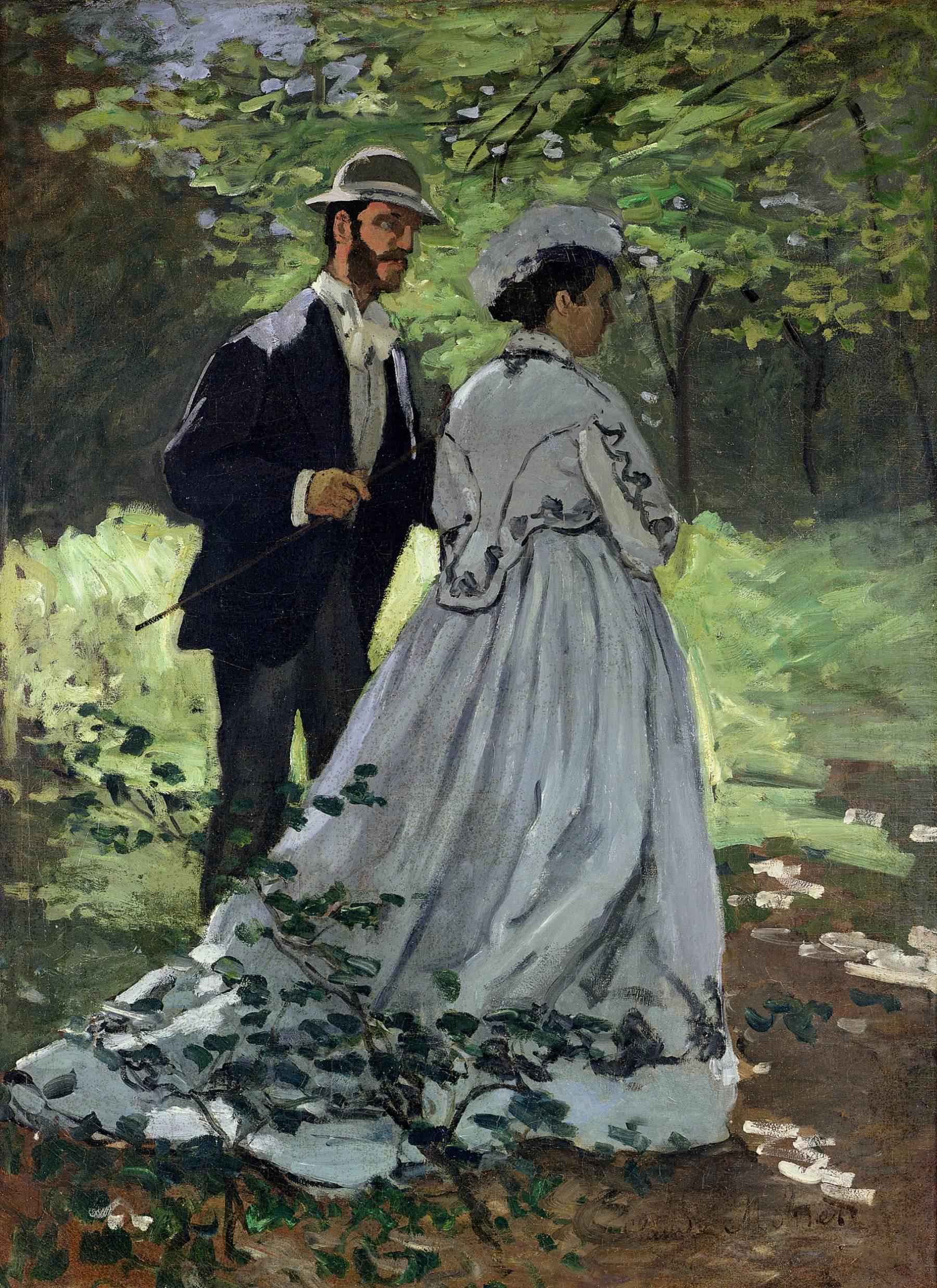 Claude Monet, Les Promeneurs. Étude pour Le Déjeuner sur l'herbe