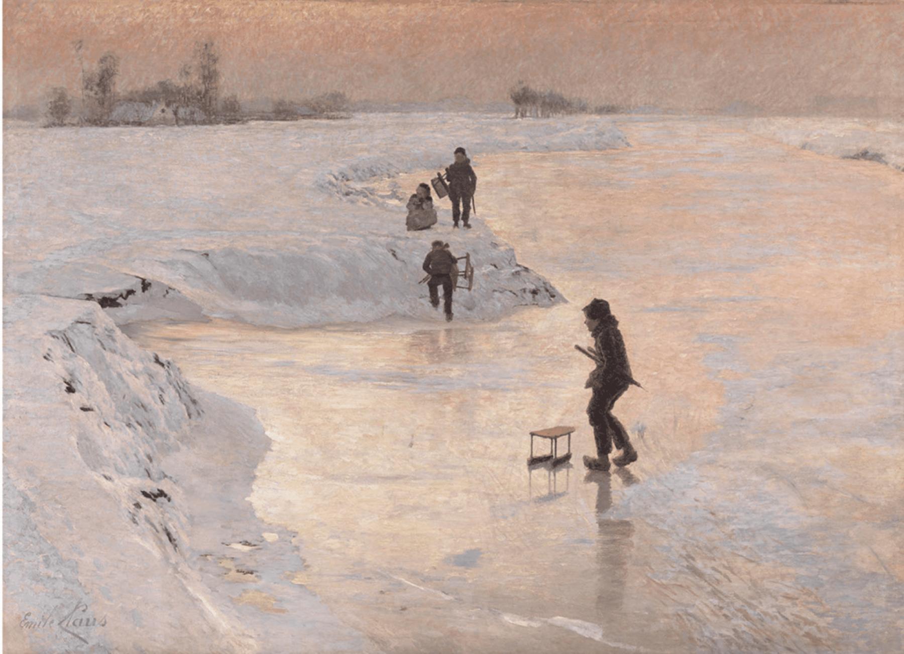 Émile Claus, Les Patineurs ou Enfants jouant sur la glace