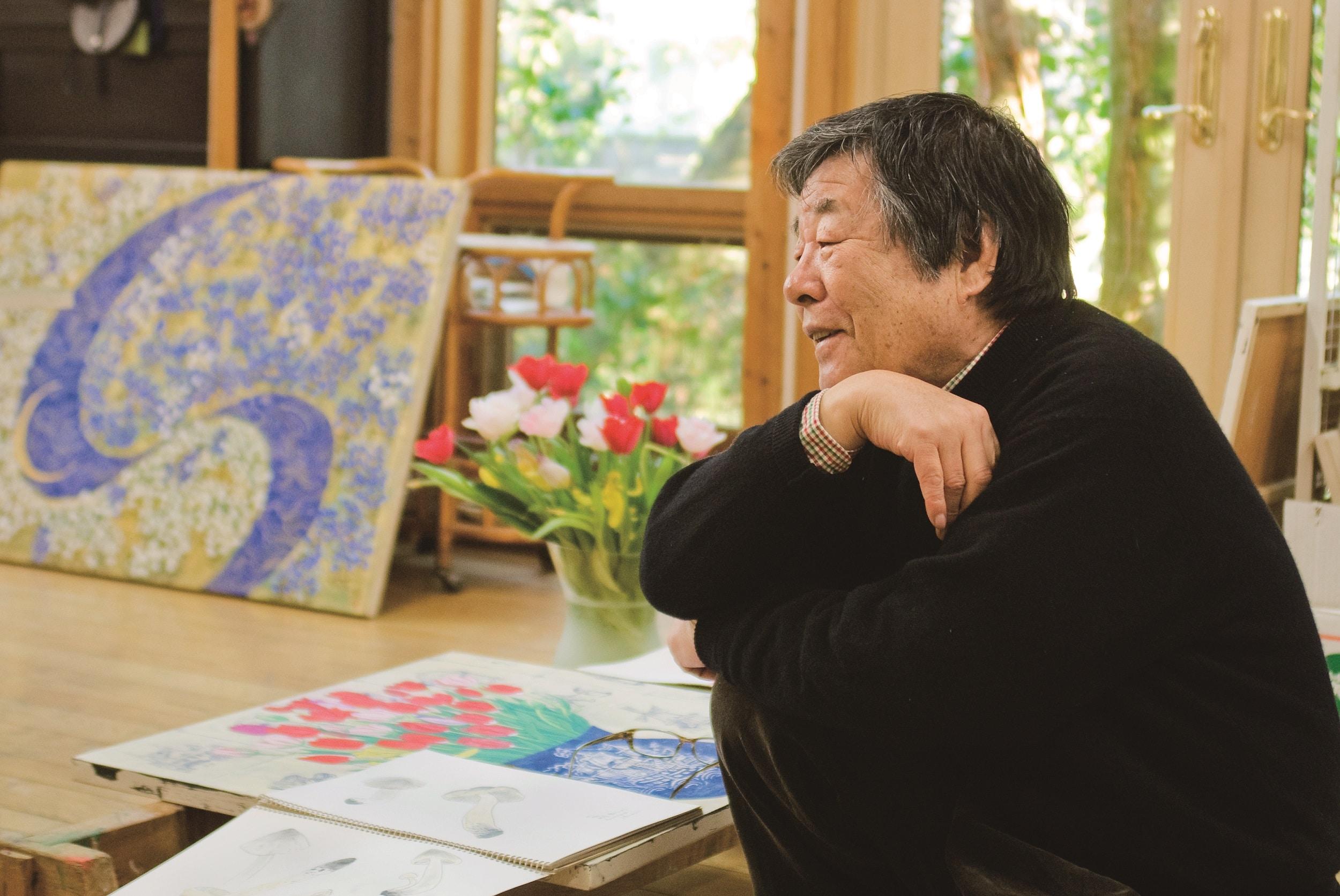 Ou Tanka, Hiramatsu Reiji dans son atelier