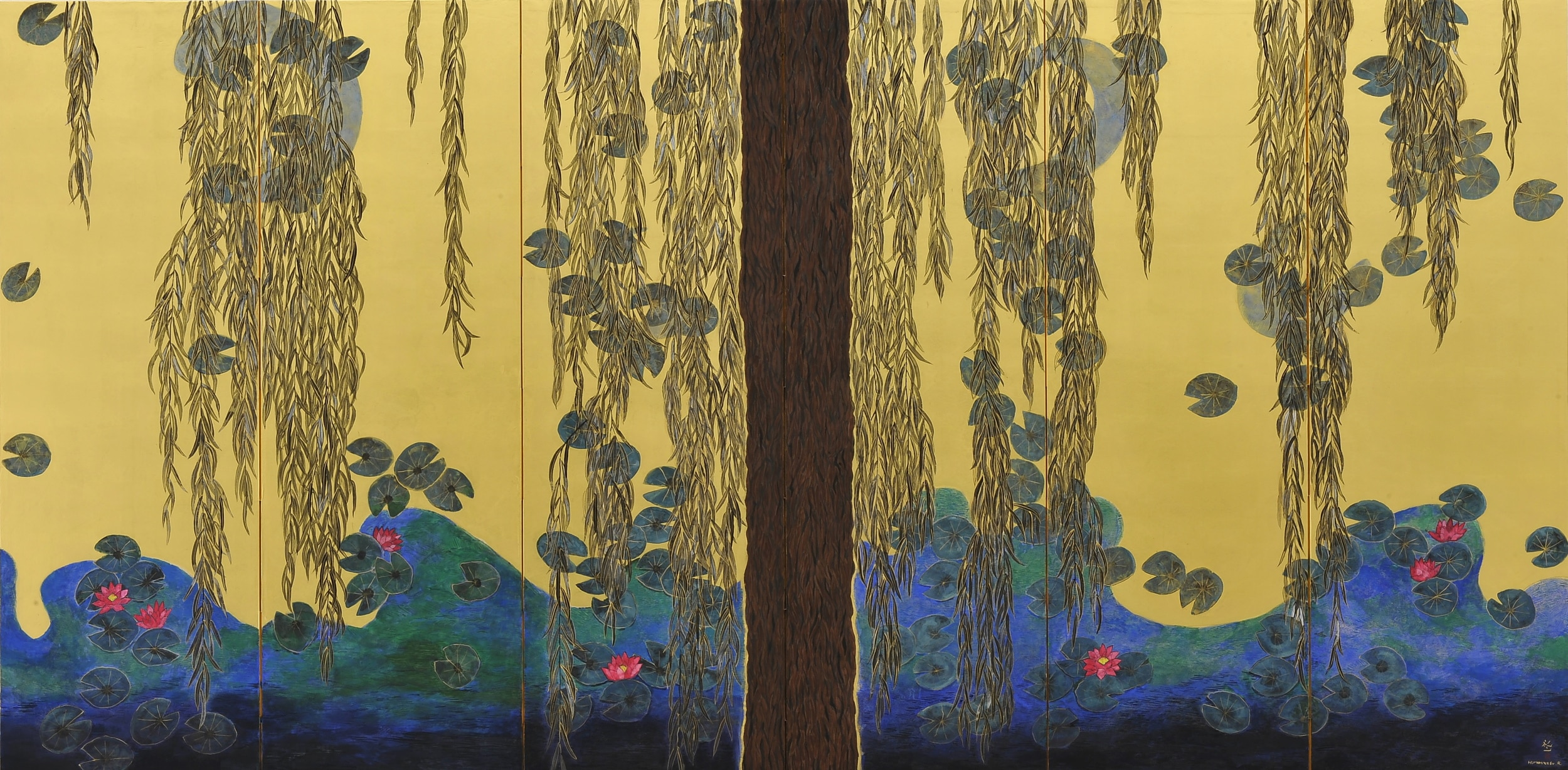 Hiramatsu Reiji, Giverny, l'étang de Monet ; brise légère