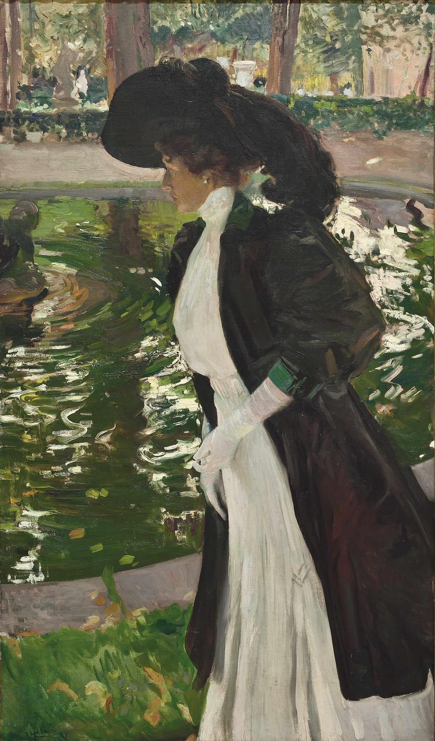 Joaquín Sorolla, Clotilde se promenant dans les jardins de La Granja