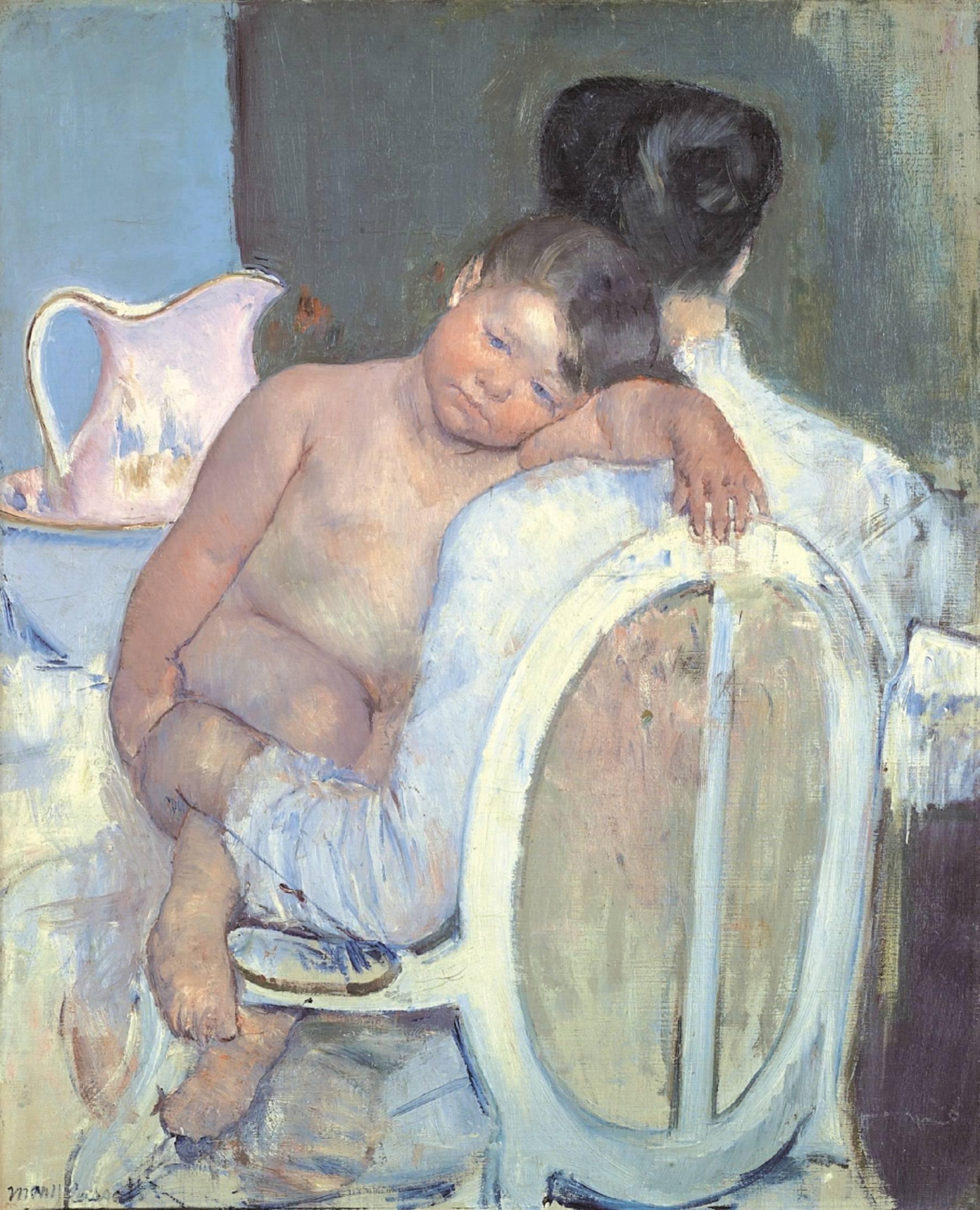 Mary Cassatt, Femme assise avec un enfant dans les bras