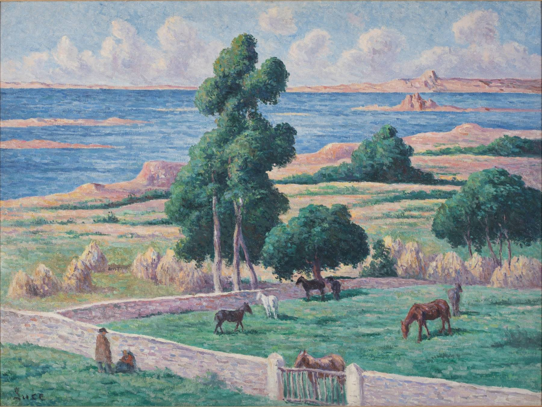Maximilien Luce, L'Île à bois, Kermouster, Lézardrieux