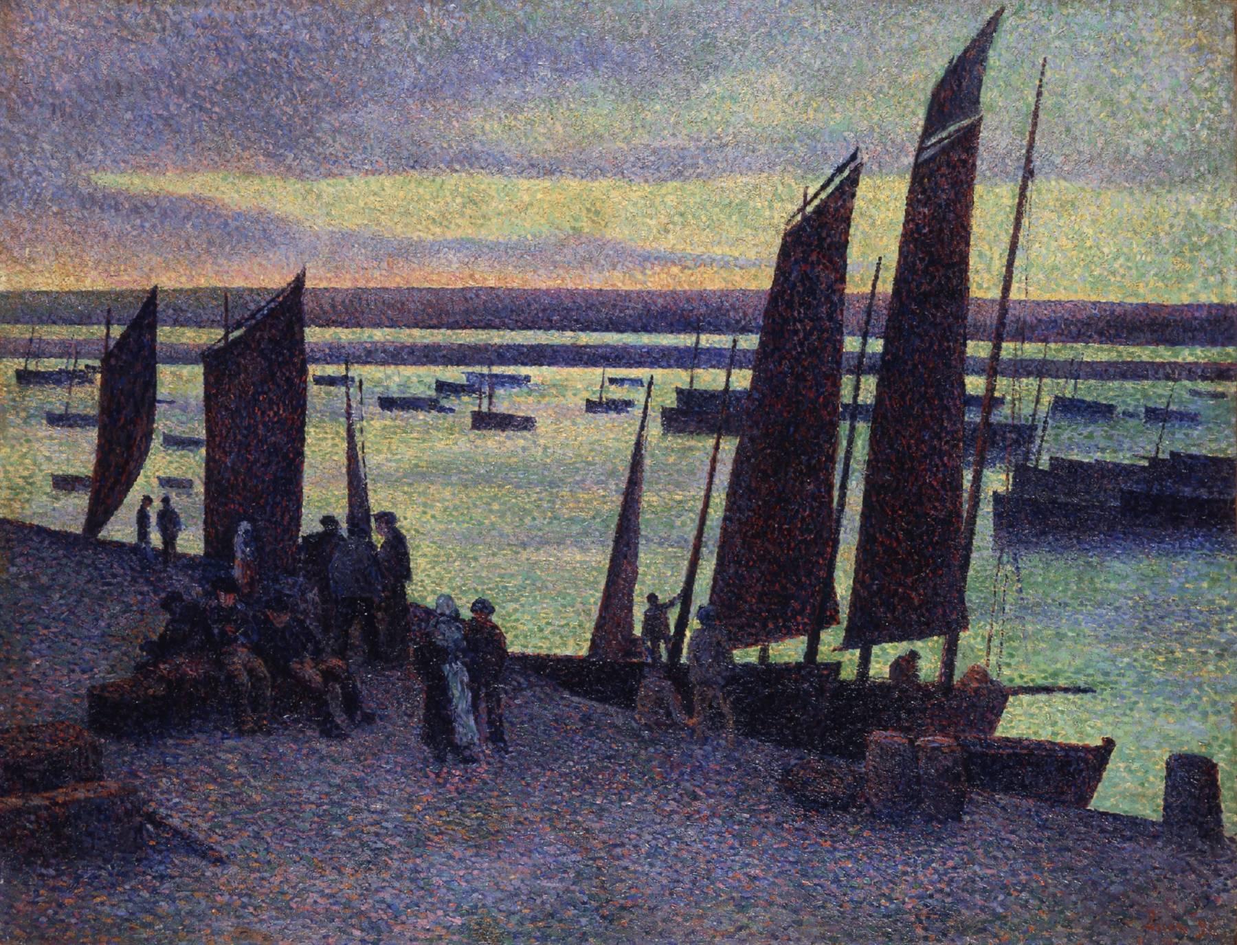 Maximilien Luce, Quai à Camaret, Finistère