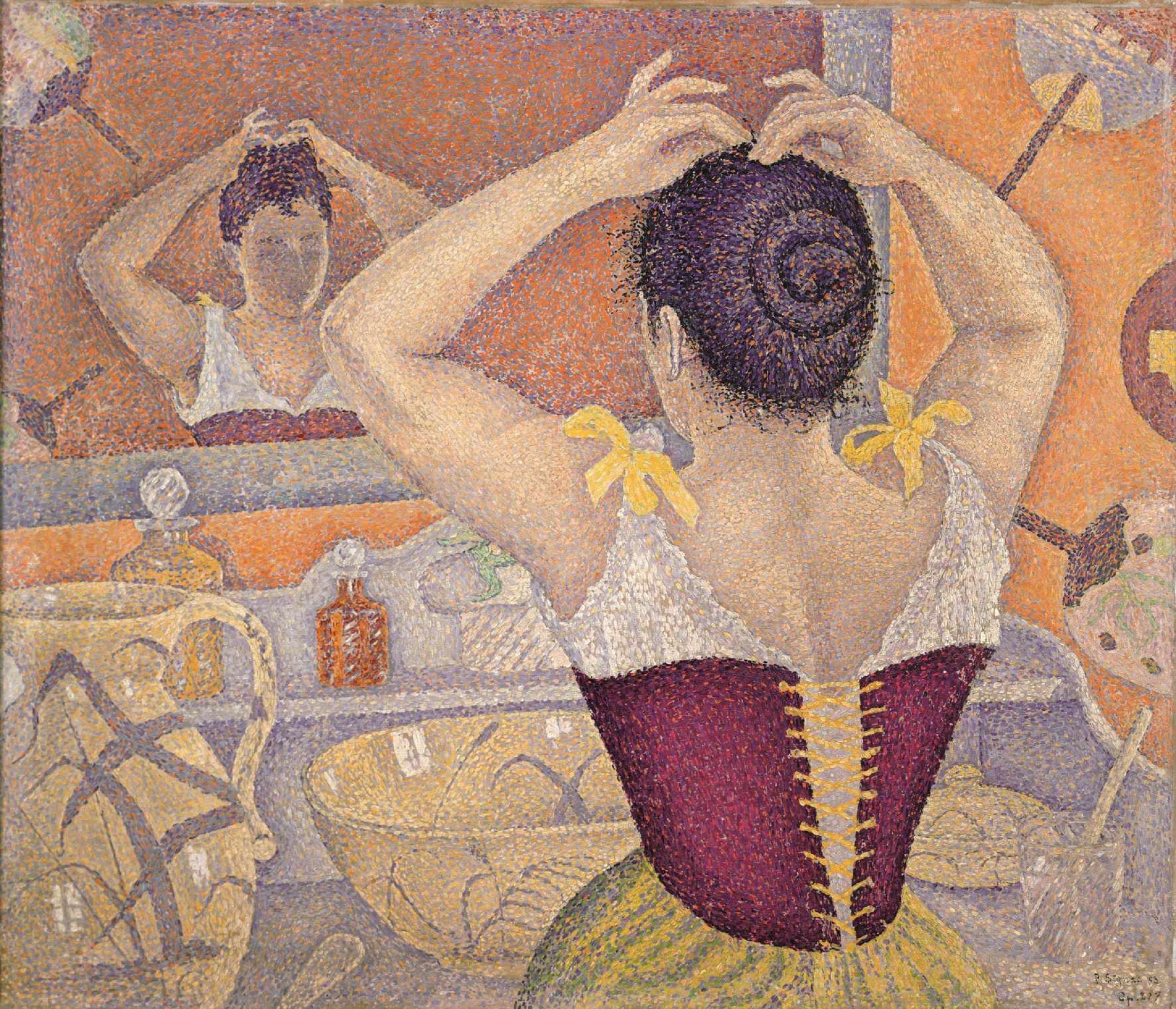 Paul Signac, Femme se coiffant. Opus 227 (arabesques pour une salle de toilette)