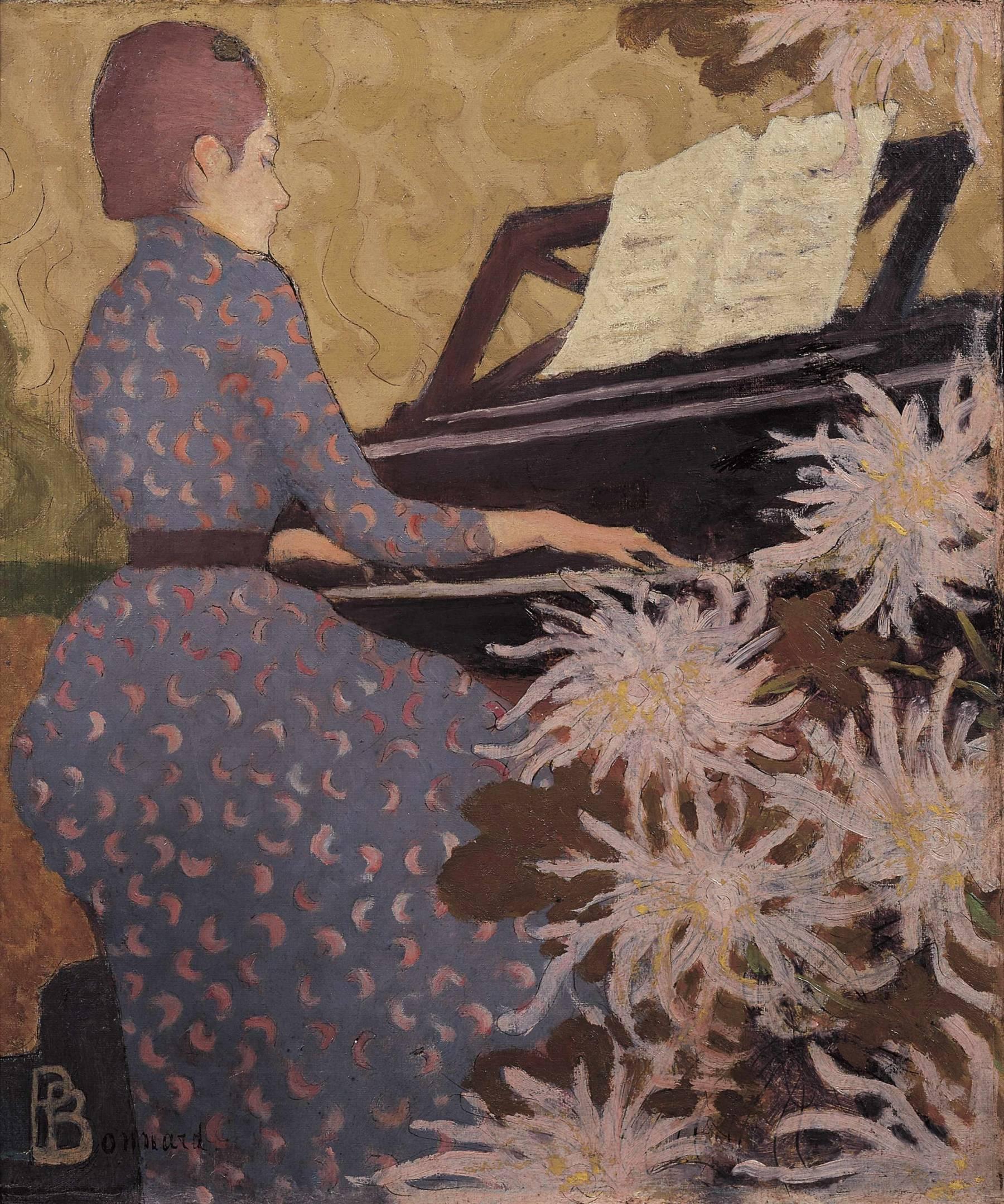Pierre Bonnard, Jeune femme au piano
