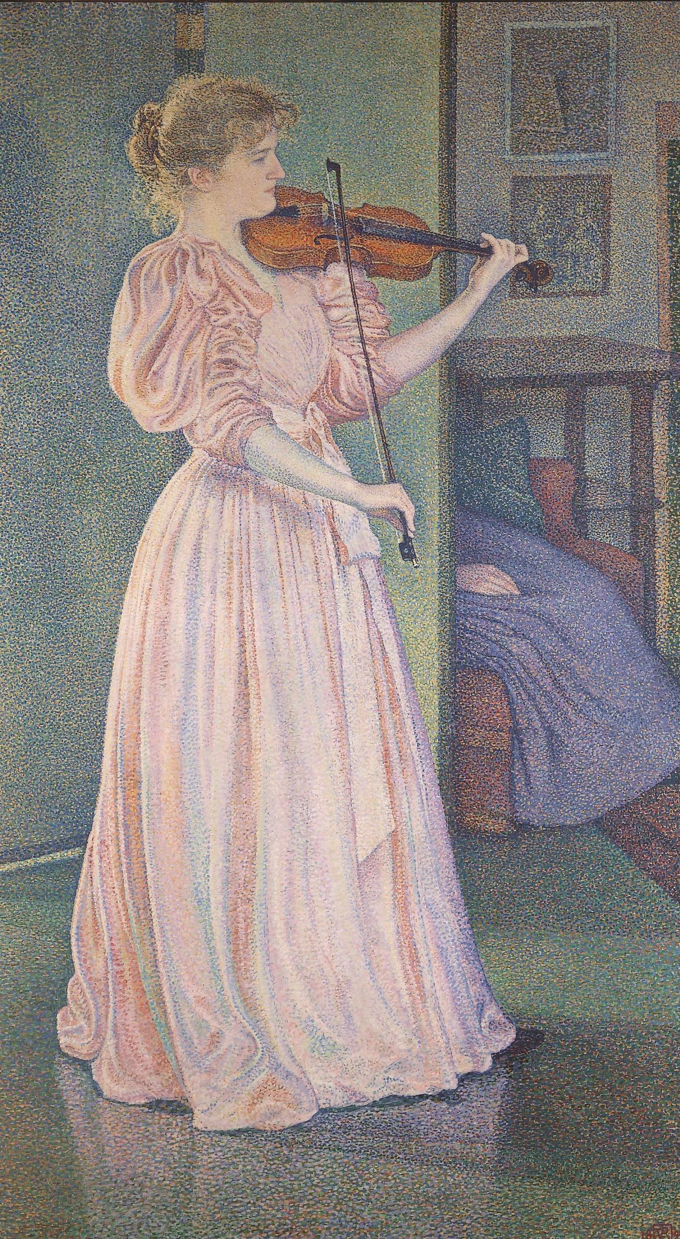 Théo van Rysselberghe, Portrait de la violoniste Irma Sèthe