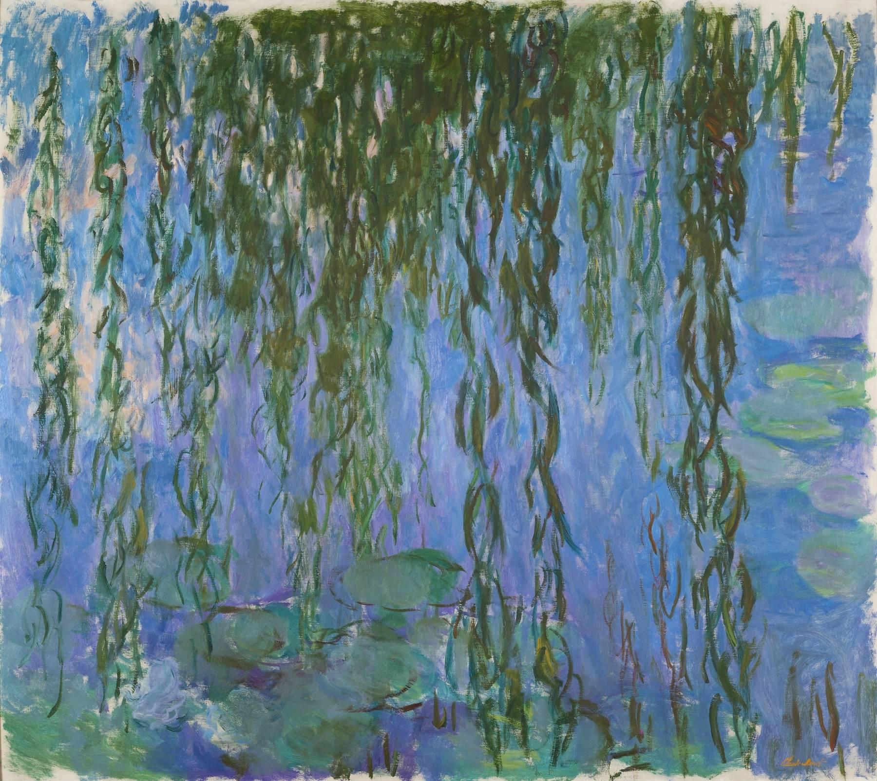 Claude Monet, Nymphéas avec rameaux de saule