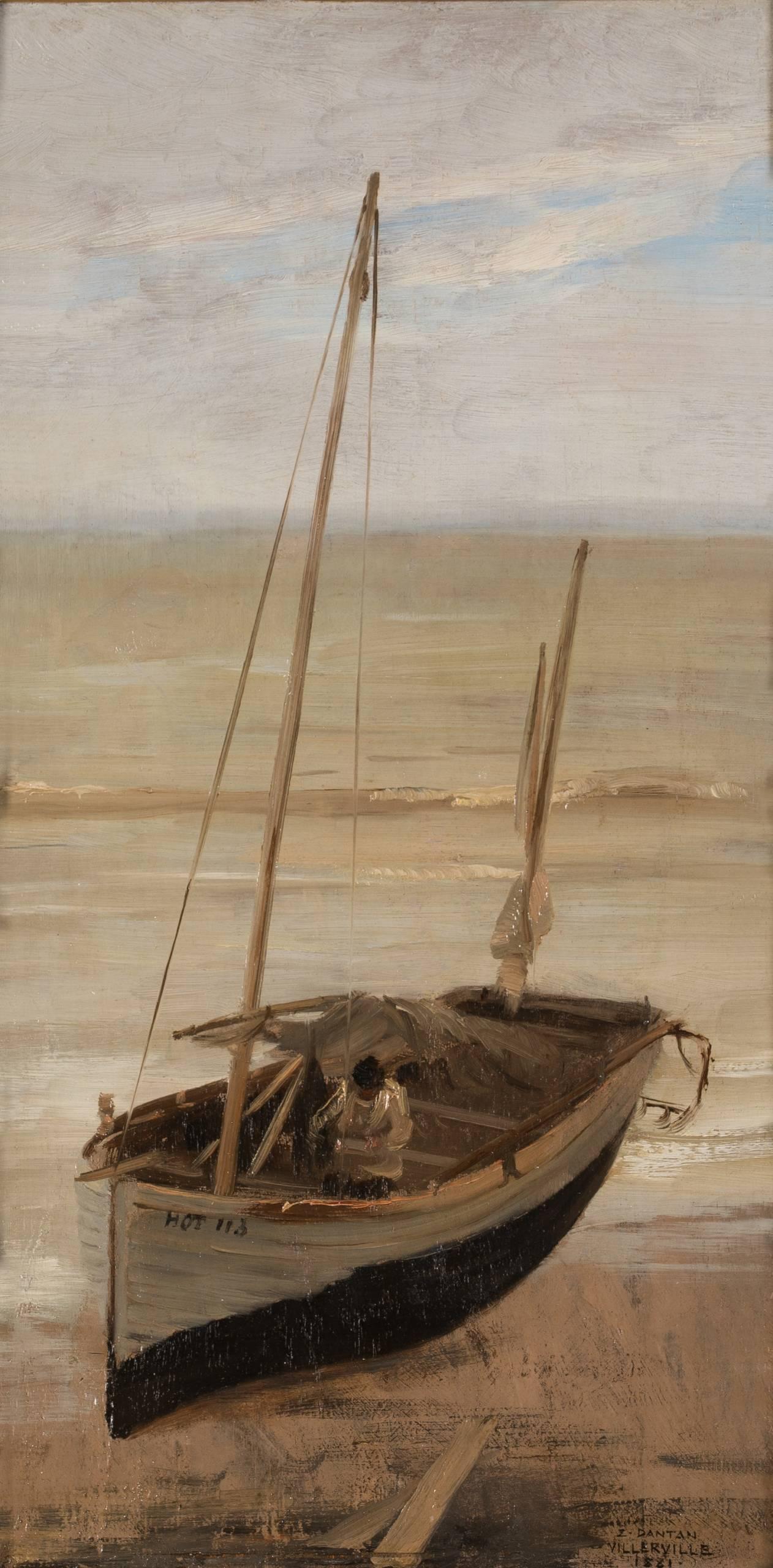 Édouard Dantan, Plate à Villerville, marée basse