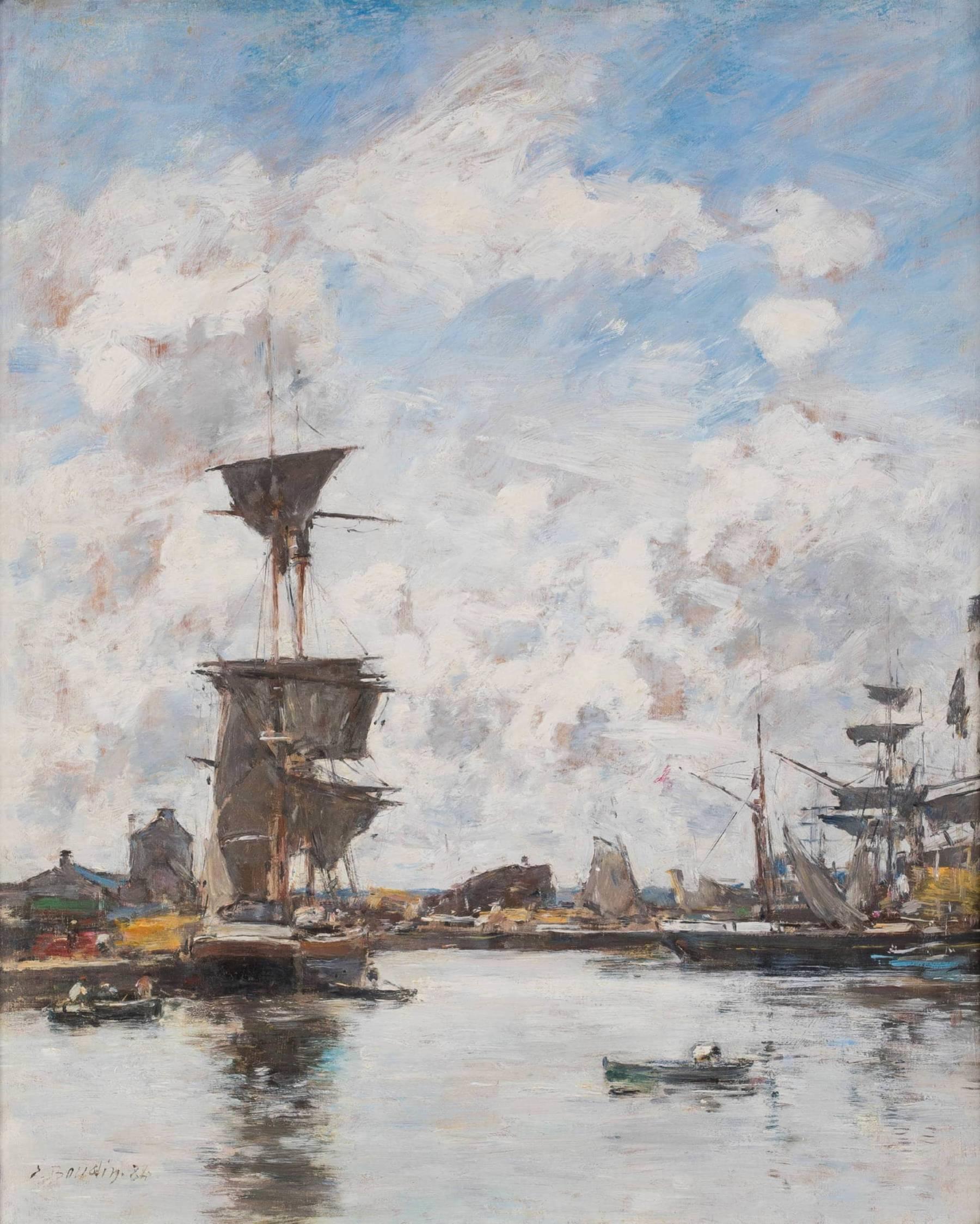 Eugène Boudin, Deauville, le bassin