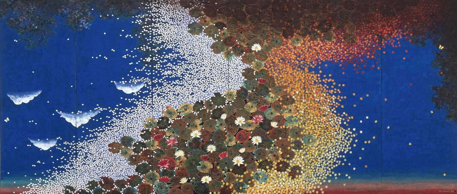 Hiramatsu Reiji, Quartet de couleurs – Nymphéas