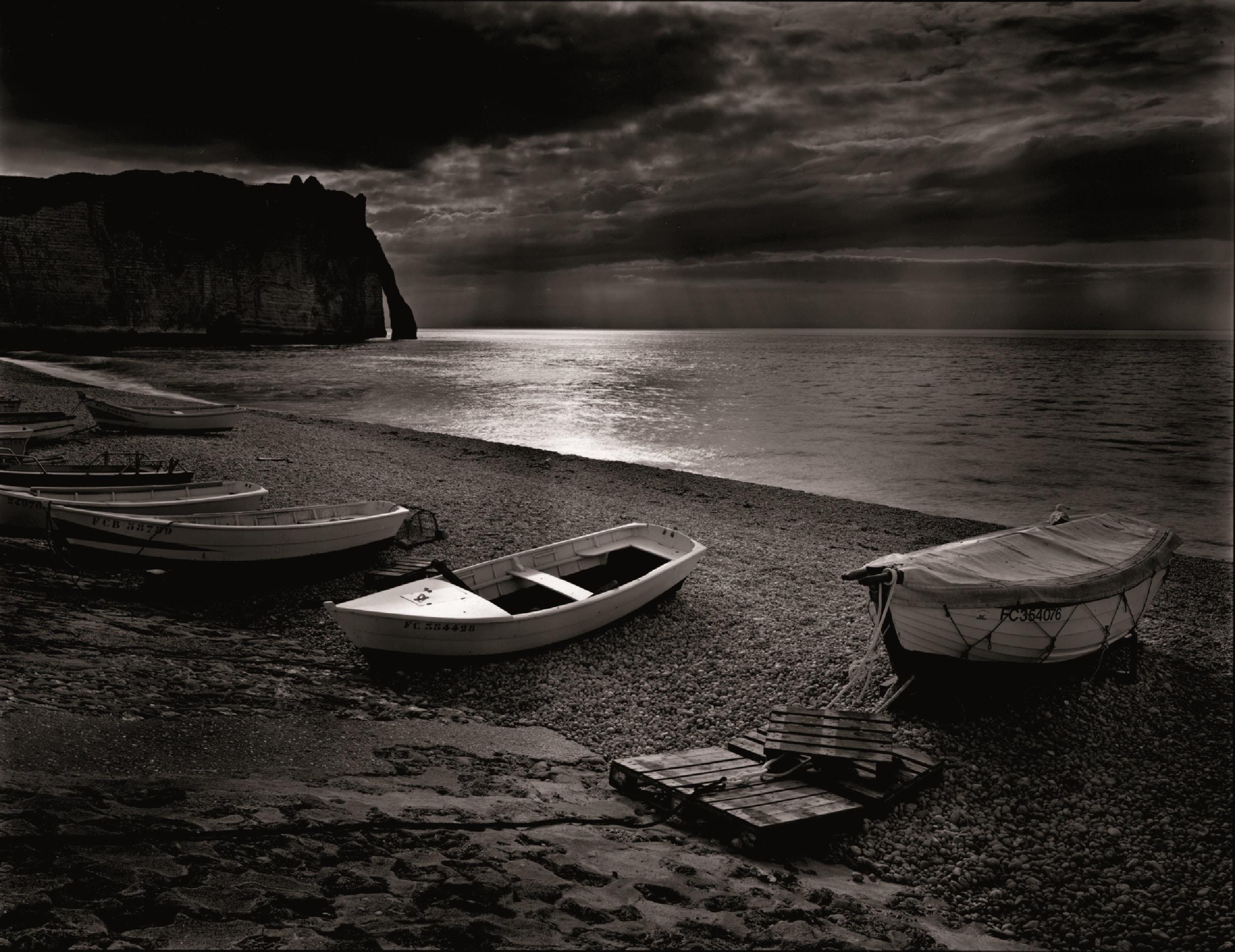 Olivier Mériel, Étretat, les barques
