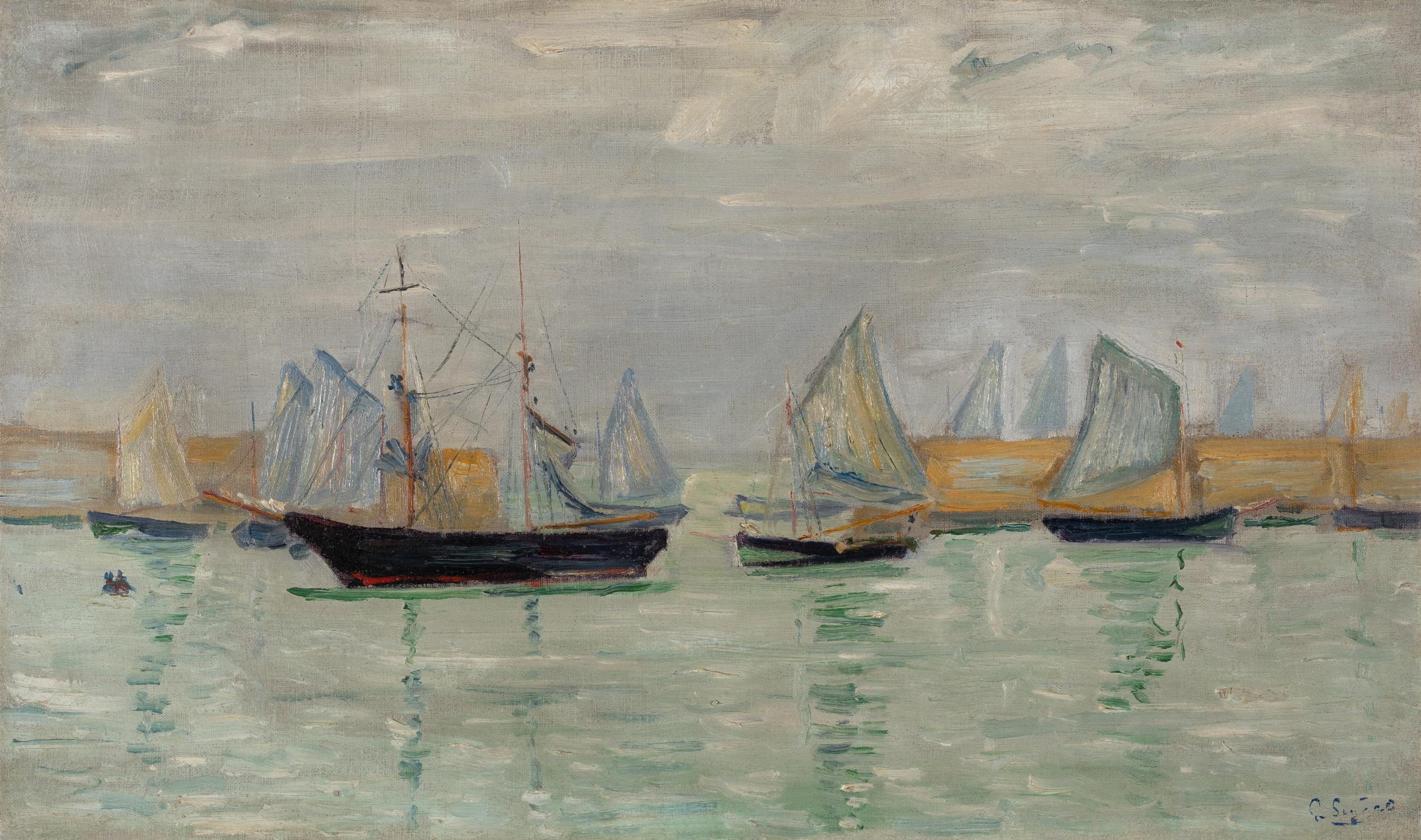 Paul Signac, Étude Port-en-Bessin (étude n°5, l'avant-port)