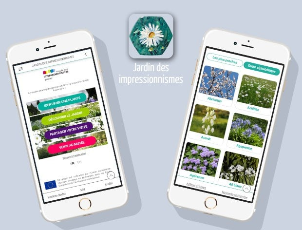 "Application ""Le Jardin des impressionnismes"""