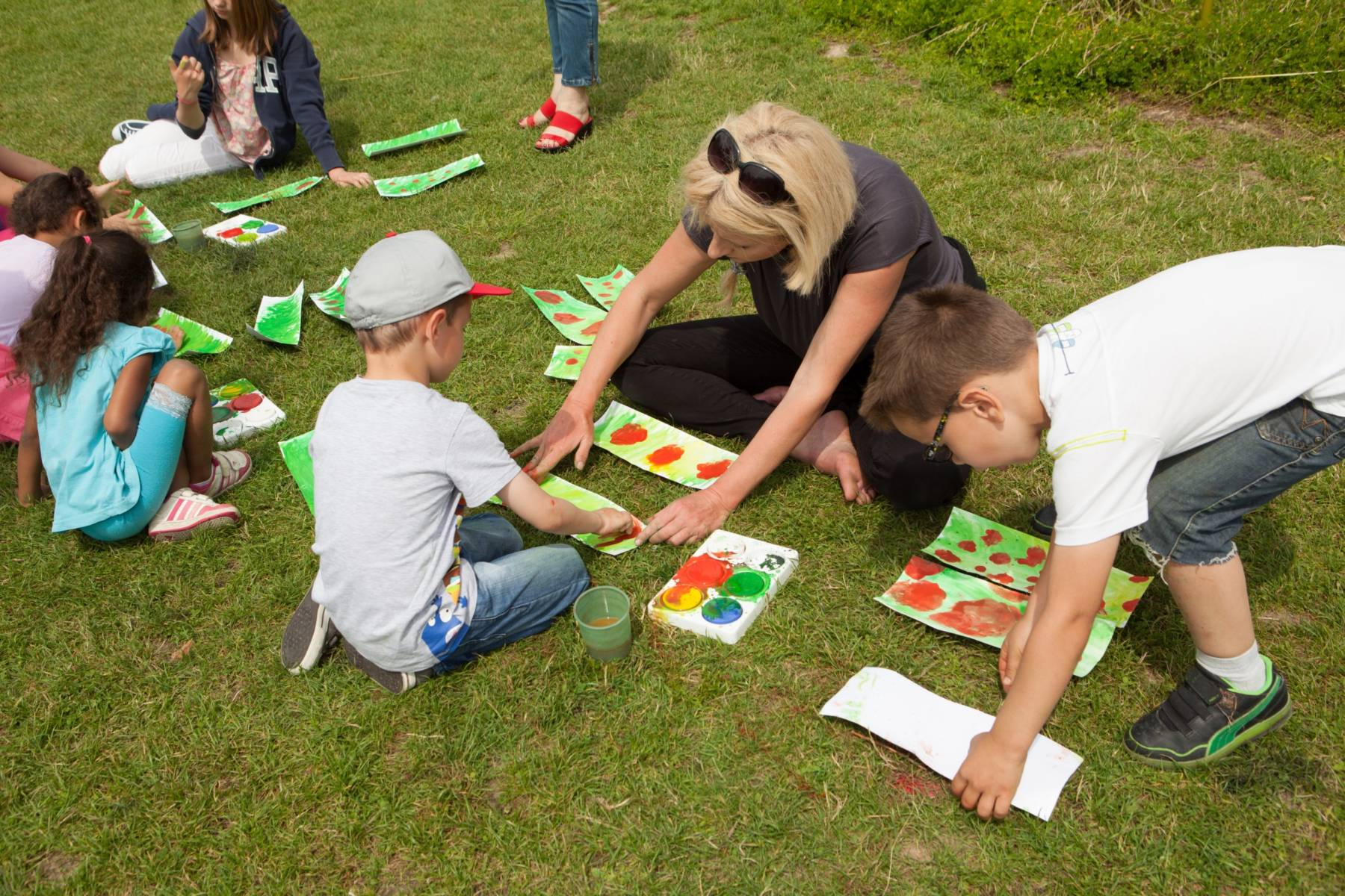 Atelier pour les scolaires dans le jardin du musée des impressionnismes Giverny