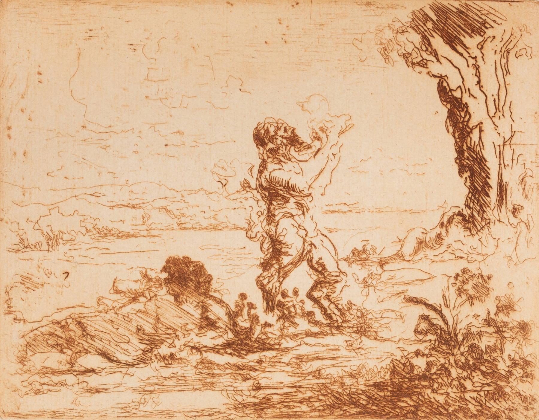Ker-Xavier Roussel, Satyre debout et nymphe étendue au bord d'une rivière