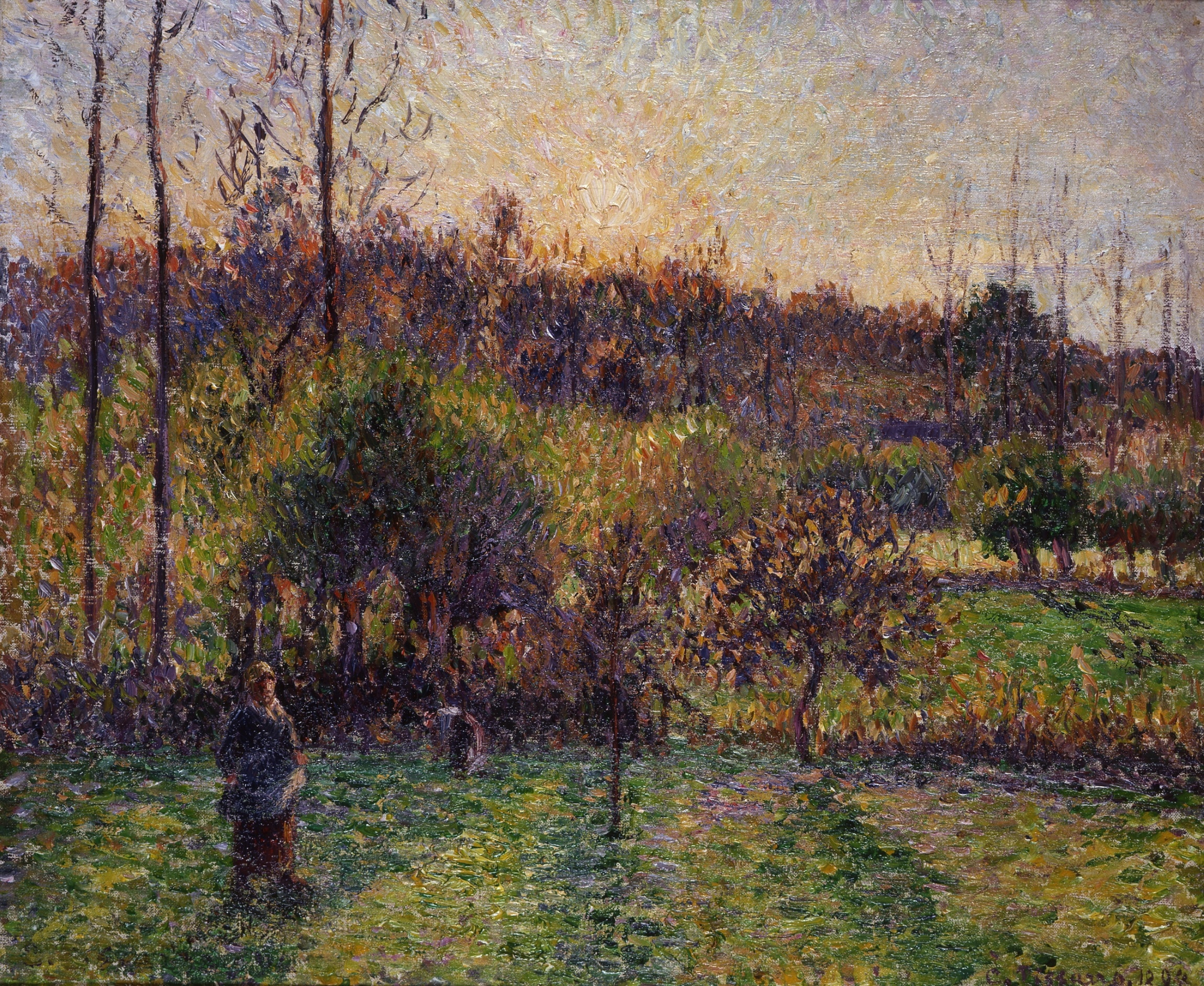 Camille Pissarro, Soleil levant à Eragny