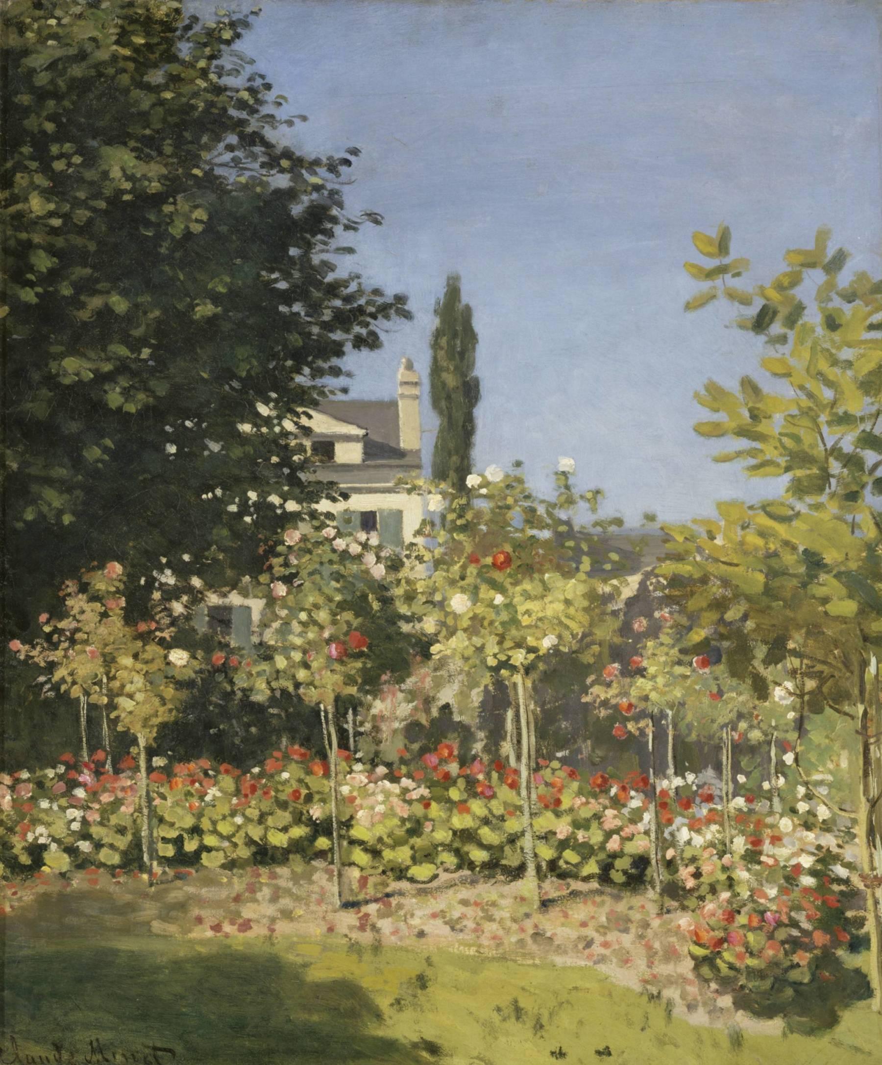 Claude Monet, Jardin en fleurs, à Sainte-Adresse