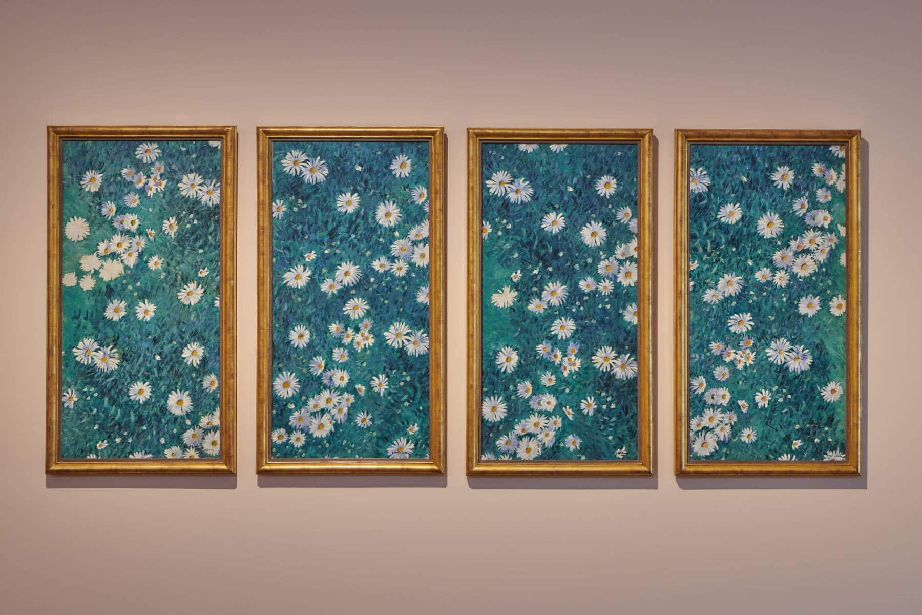 Gustave Caillebotte, Parterre de marguerites en quatre panneaux