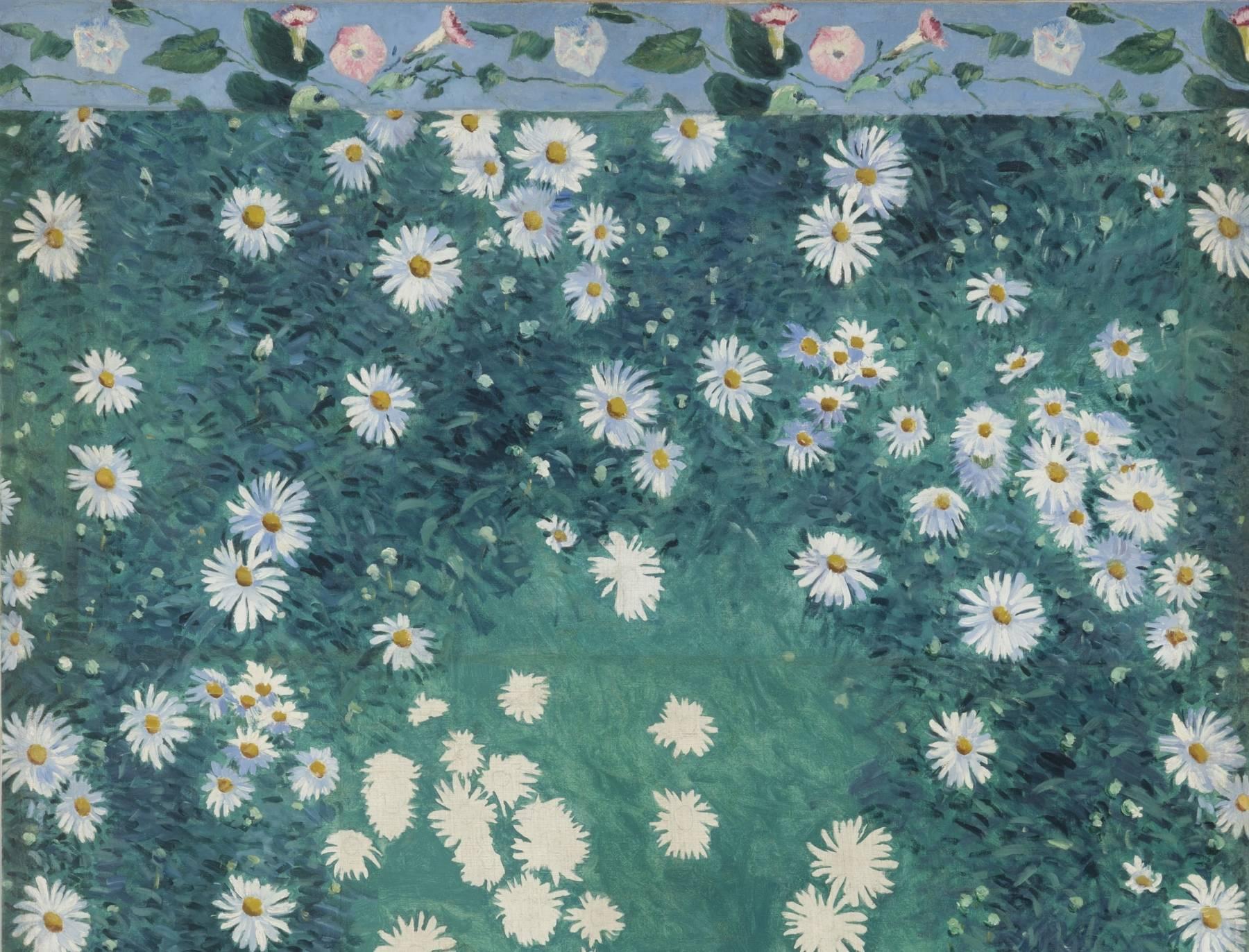 Gustave Caillebotte, Parterre de marguerites (détail)