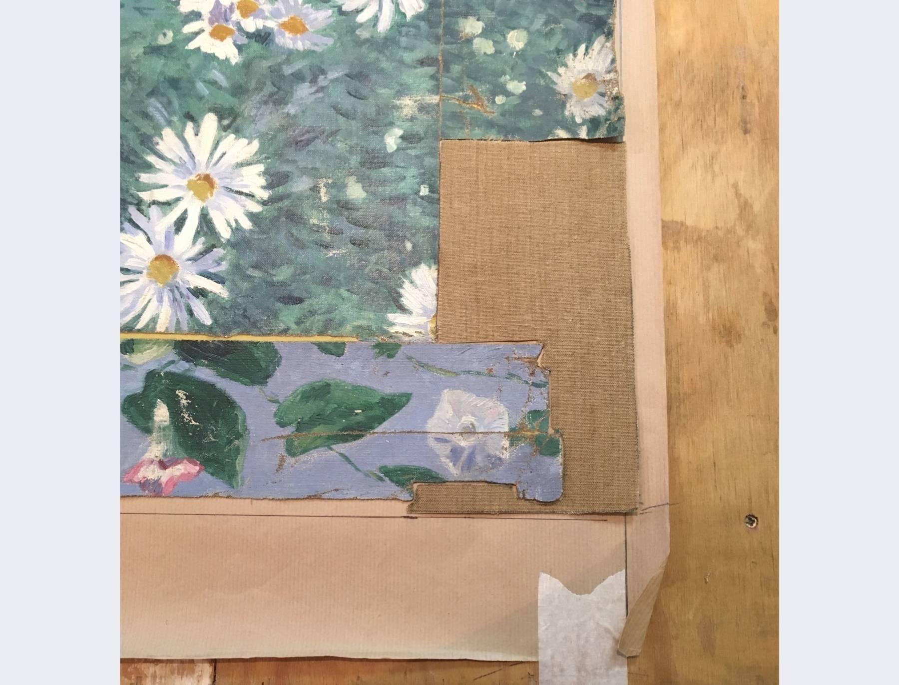 Parterre de marguerites de Gustave Caillebotte, en cours de restauration