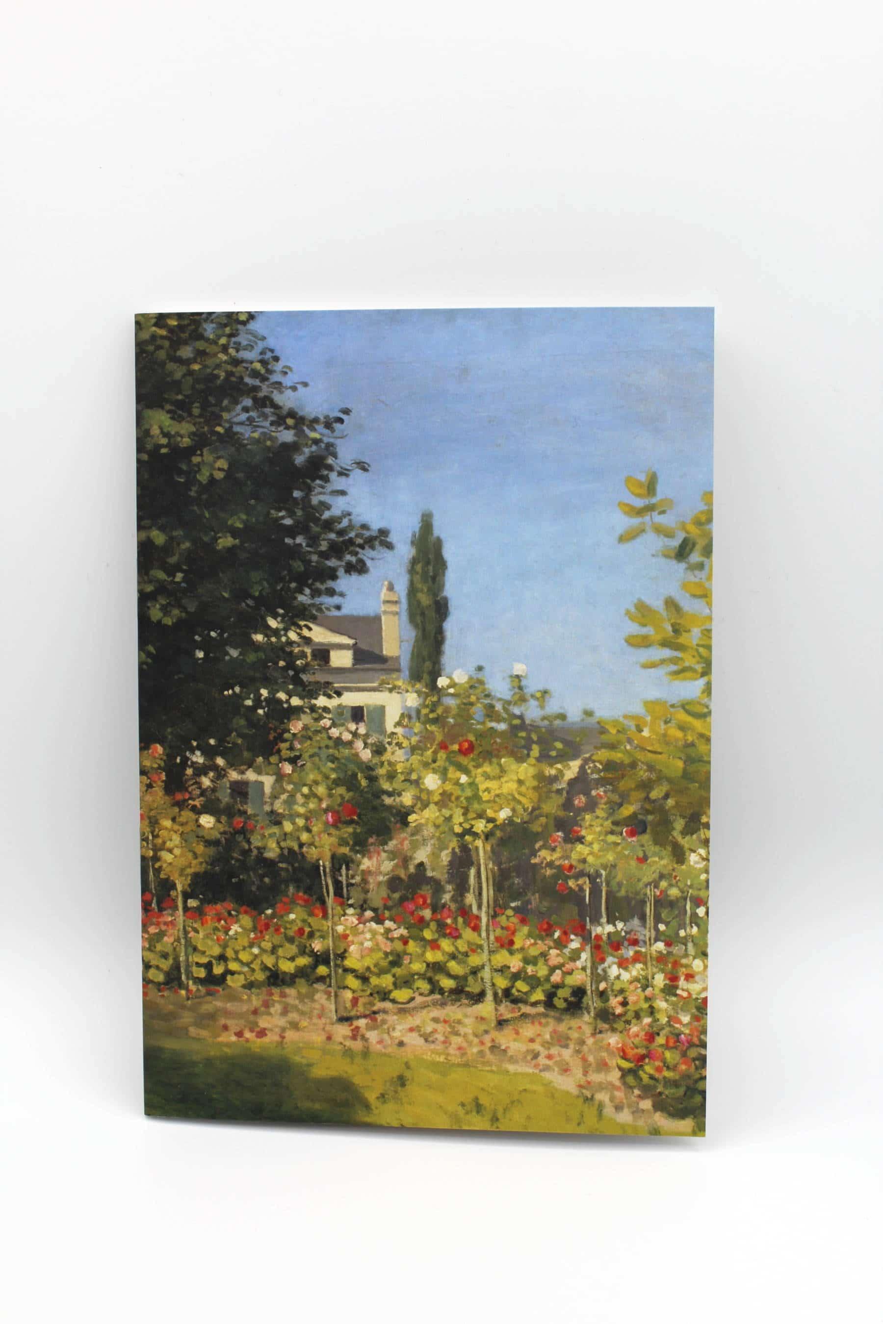 Cahier A5 - Claude Monet, Jardin en fleurs