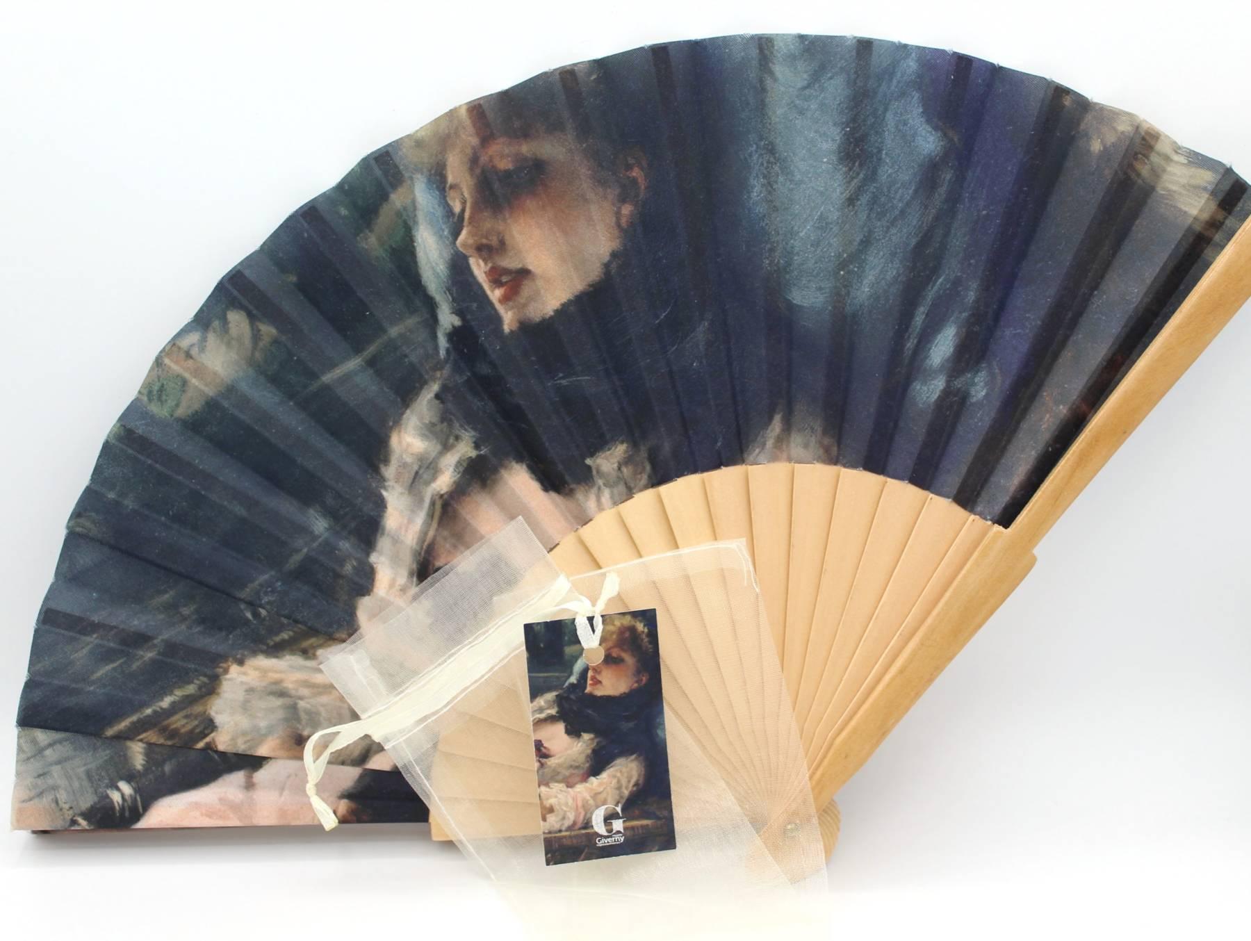 Eventail - James Tissot, La rêveuse