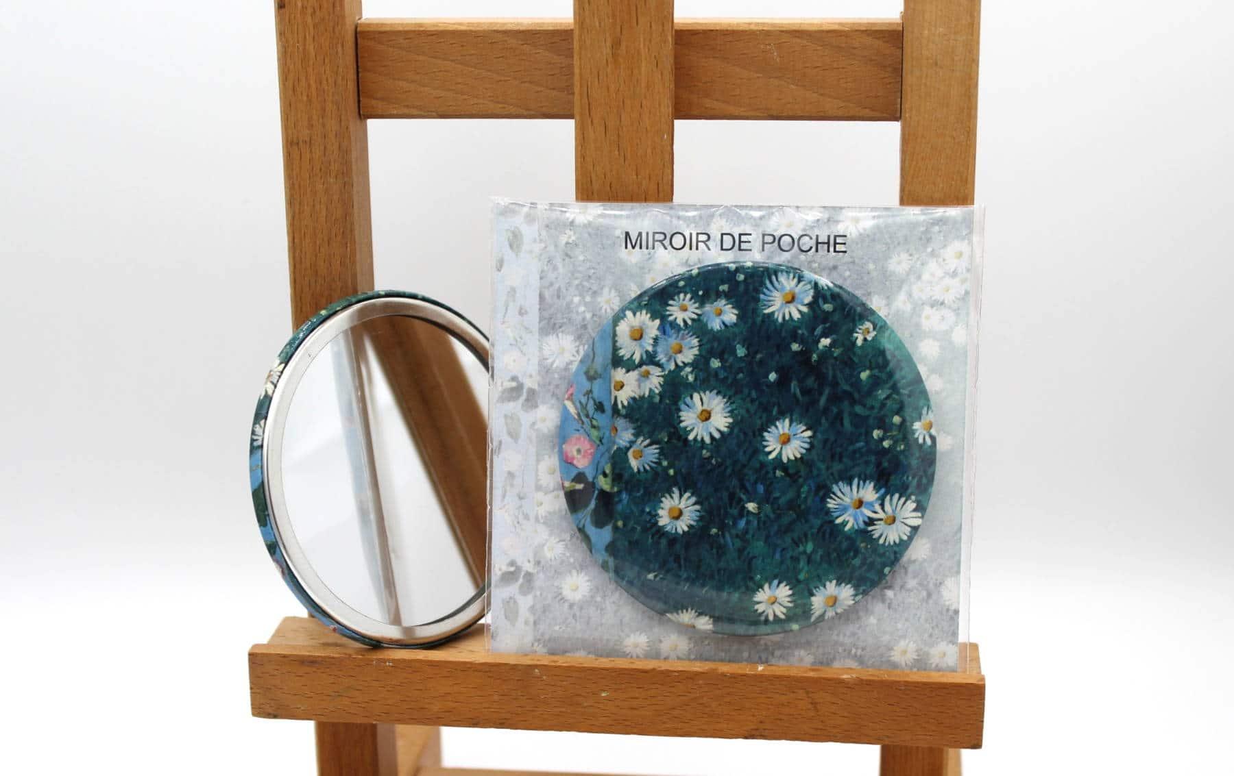 Miroir de poche - Gustave Caillebotte, Marguerites